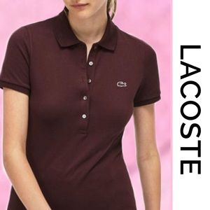 LACOSTE Women's Brown polo shirt 6